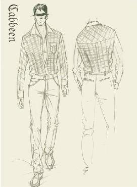 男生手绘服饰图片