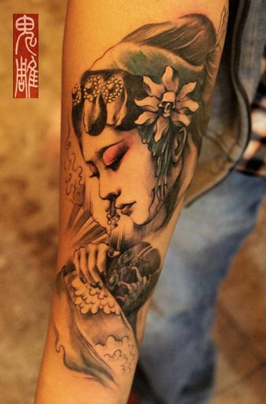 美腰,纹身
