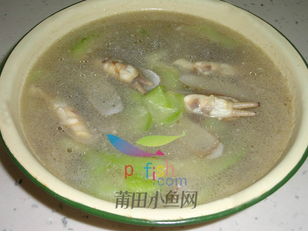 海蛏丝瓜汤