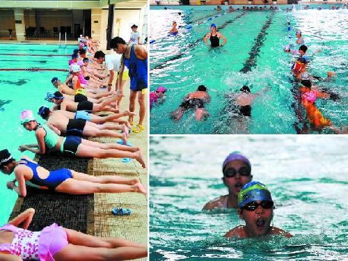 暑期学游泳金鱼京科游泳培训班{常年从事游泳版科教华夏课件图片