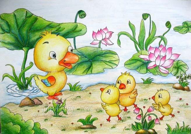 [图片]幼儿画兔子 - 关于春天的画幼儿画