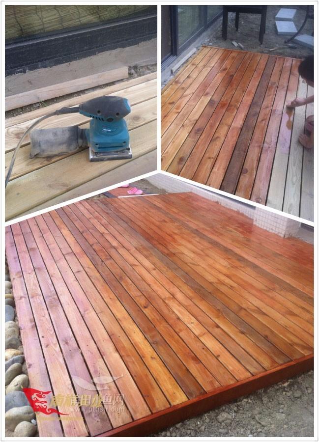 花园防腐木地板如何安装?