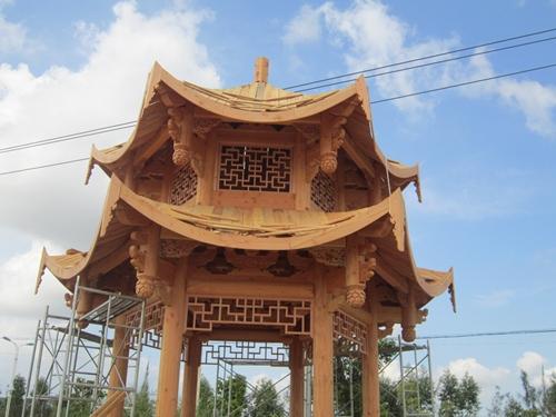 六角亭木结构图片