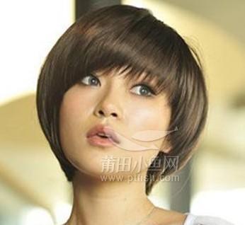 2014发型女生发型v发型展现清纯简约气质谢娜嗨2014短发图片