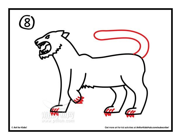 儿童简笔画——如何画一只老虎