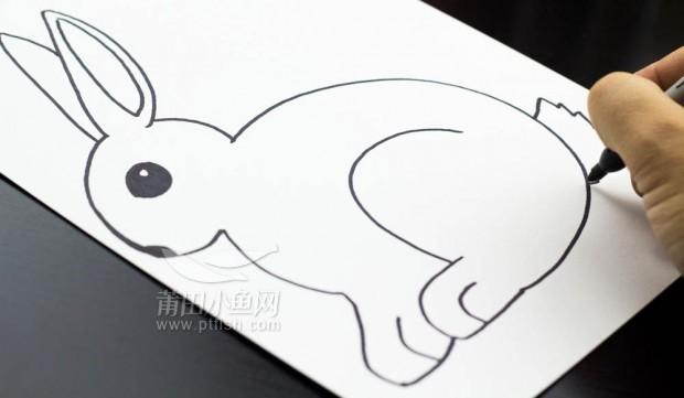儿童简笔画——如何画一只兔子