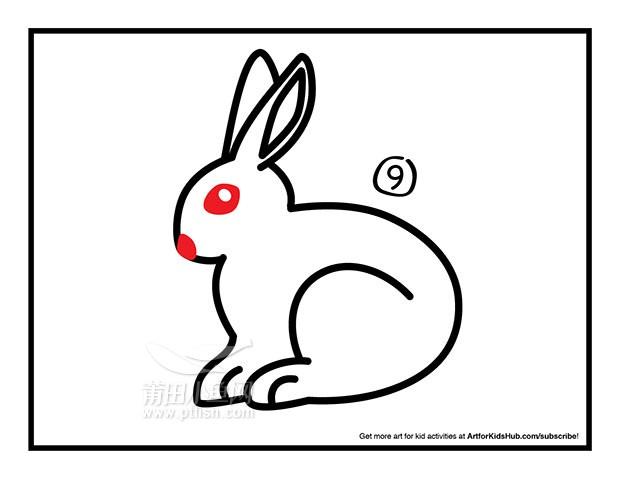 儿童简笔画 如何画一只兔子