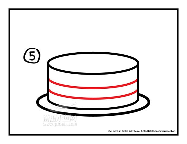 儿童简笔画——如何画一个生日蛋糕