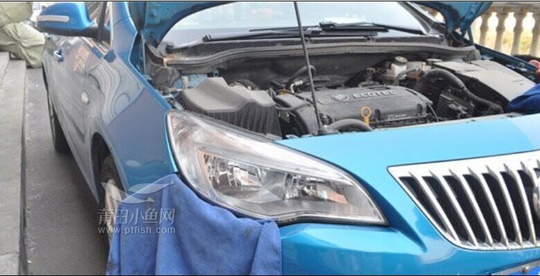 莆田音响汽车改装 英朗XT更换U型氙气大灯总成高清图片