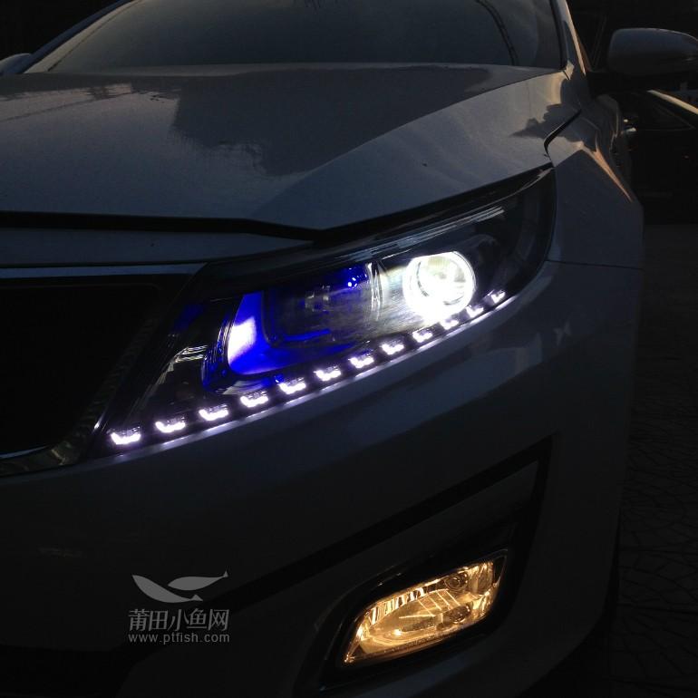 莆田汽车改装 K5改装Q5透镜 泪眼 宝马天使眼 关注效果图高清图片