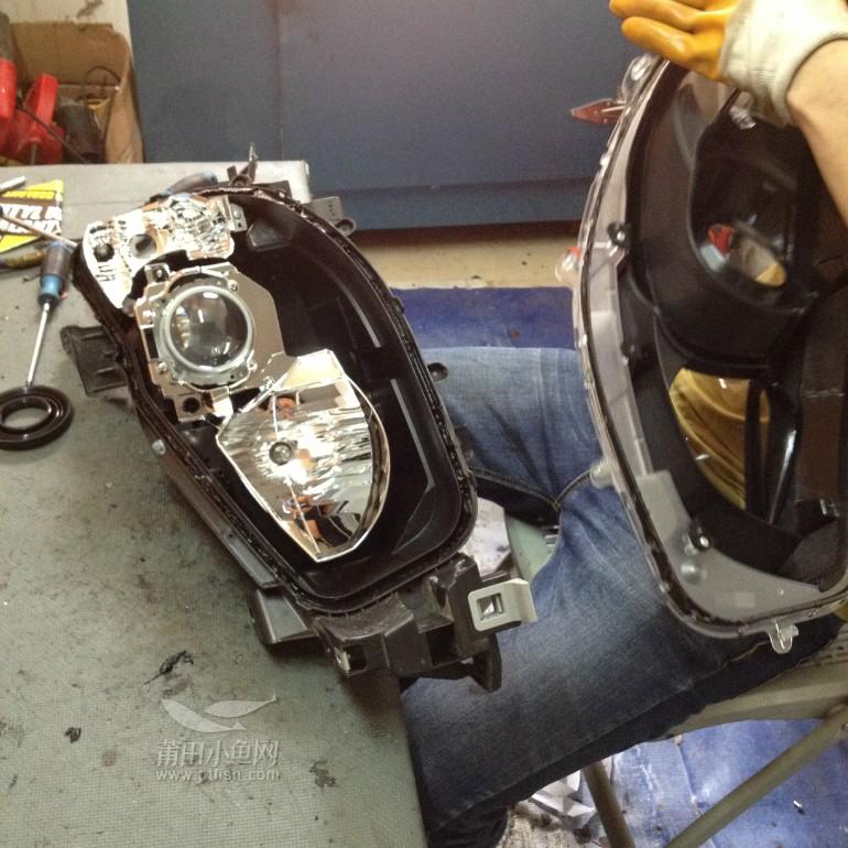 莆田汽车改装 CX5大灯改Q5透镜 宝马天使眼 请关注效果图高清图片
