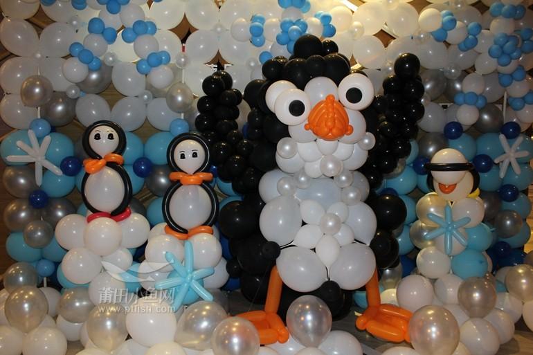 魔术气球企鹅图解