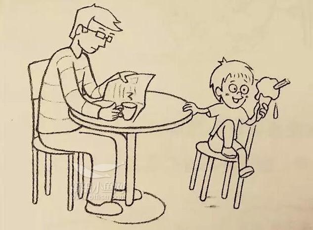 完全没有生气,喊叫! 爸爸可以给孩子再买一个冰激凌,并趁机让孩子明白以后吃冰激凌的时候,不要摇晃椅子。 爸爸如果不再给孩子买冰激凌,最好先向孩子解释原因,让孩子自己思考。 爸爸先接受这个事实,然后帮助孩子更好的控制情绪,并尽快消除抑郁情绪。过后孩子可能会重新思考,并想出解决办法。 孩子生气不开心或者难过,家长首先要暂时把自己的情绪与批评想法放在一边,体会孩子的想法和感受,并消除孩子的负面情绪。你可以告诉你对他想法的推测(不要过于自信或武断,因为你无法确定你说的就是对的)。你也可以描述下你对他想法的看法,尽