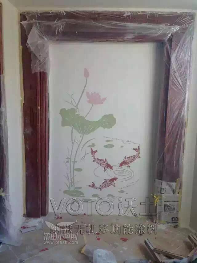 客厅电视背景,玄关,房间背景等,用硅藻泥做出来的效果,颜色亚光