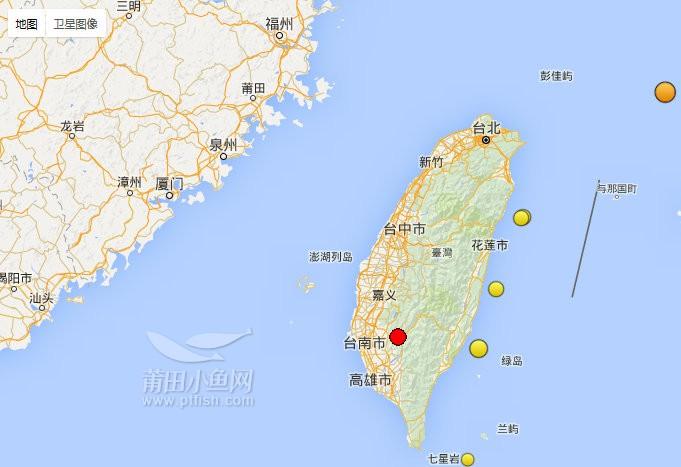 台湾省高雄市凌晨3时57分发生6.7级地震 震起一众熟睡