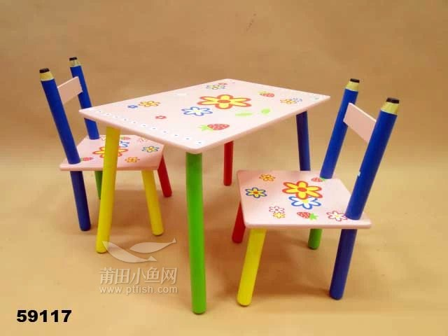 出儿童卡通桌椅及儿童木马玩具