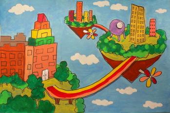 多彩世界 放飞梦想 大川一汽丰田首届儿童绘画比赛开始报名啦 车闻车市图片