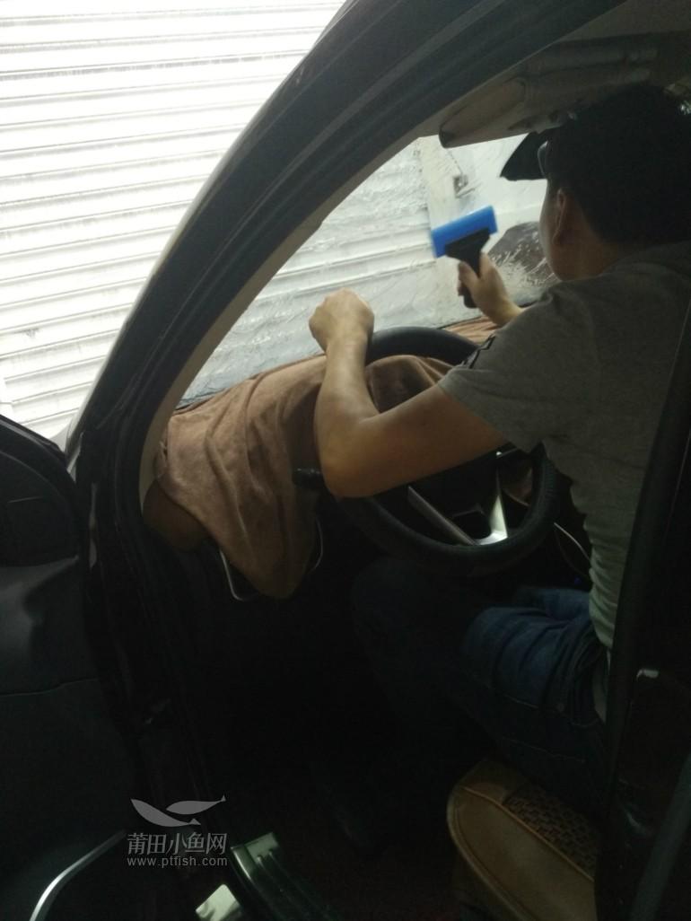 莆田汽车改装 君威安装导航 东南DX7全车贴龙膜高清图片