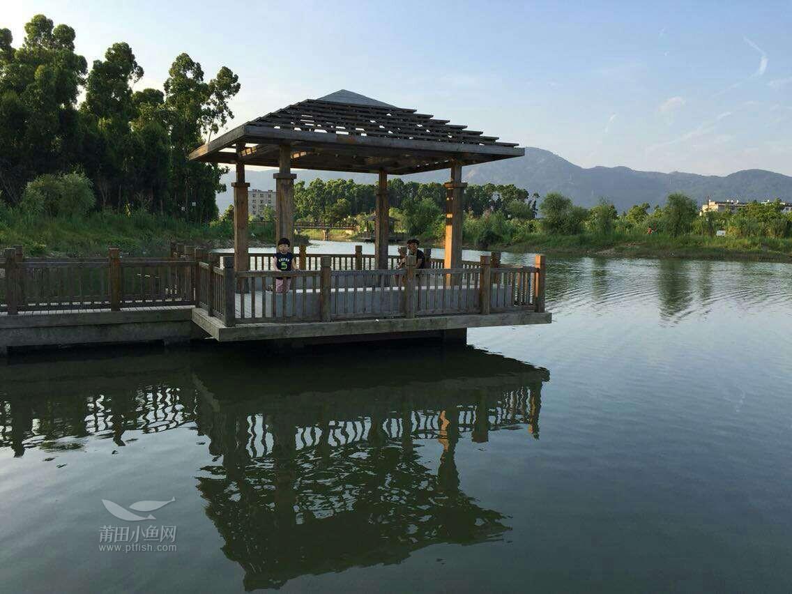 涵江公园绿树成莺,风景杠杠的美,水之净伴美景.