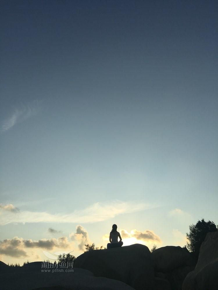 平潭的海美美的,来组日落剪影照-体育&户外嵊州自助游攻略图片