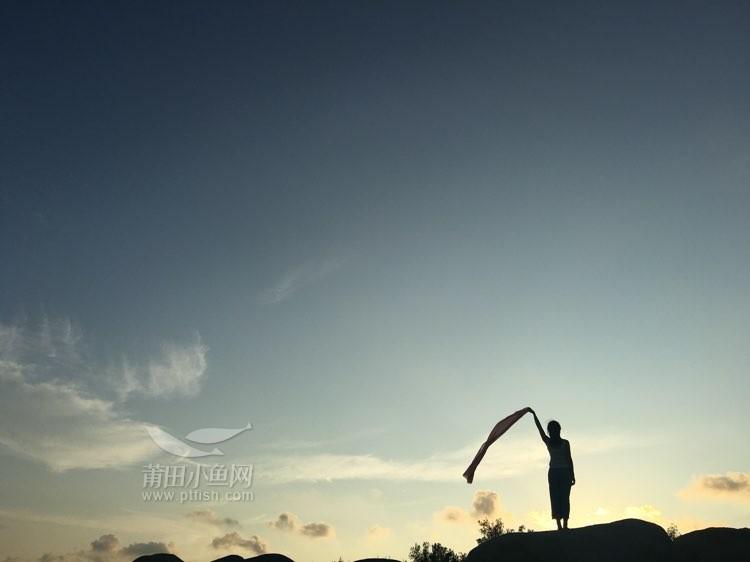 平潭的海美美的,来组合成科学照-小人&户外剪影体育通关日落游戏图片