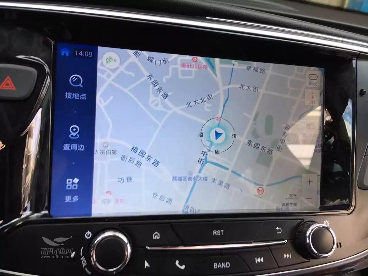 17款别克昂科威加装安卓大屏导航 倒车影像高清图片