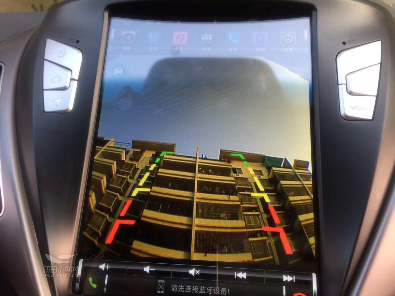 现代朗动加装竖屏导航 倒车影像【金声汽车服务】