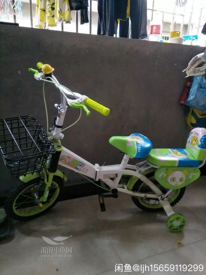 收一台带后座的儿童自行车图片