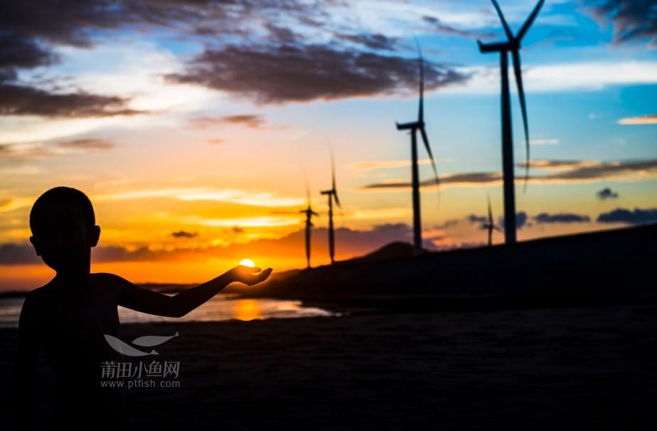 南日岛,夕阳下图片
