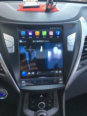 莆田汽车改装-----现代朗动导航安卓竖大屏导航仪【莆田金声汽车】