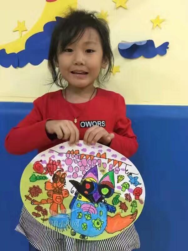 佳艺幼儿园《小狐狸摘葡萄》绘画作品