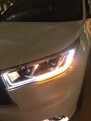 汉兰达改装LED大灯总成高清图片