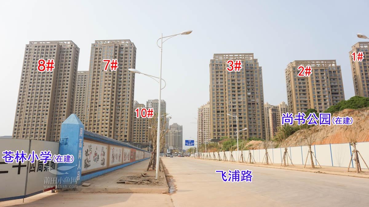 飞浦路已通车;尚书公园、苍林小学在建