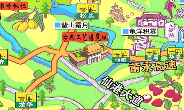 【吃货必备】莆田手绘美食地图
