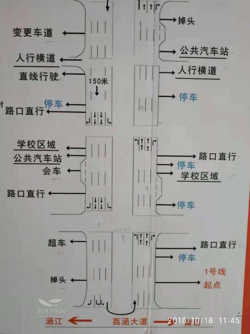 科目三3号线路线图