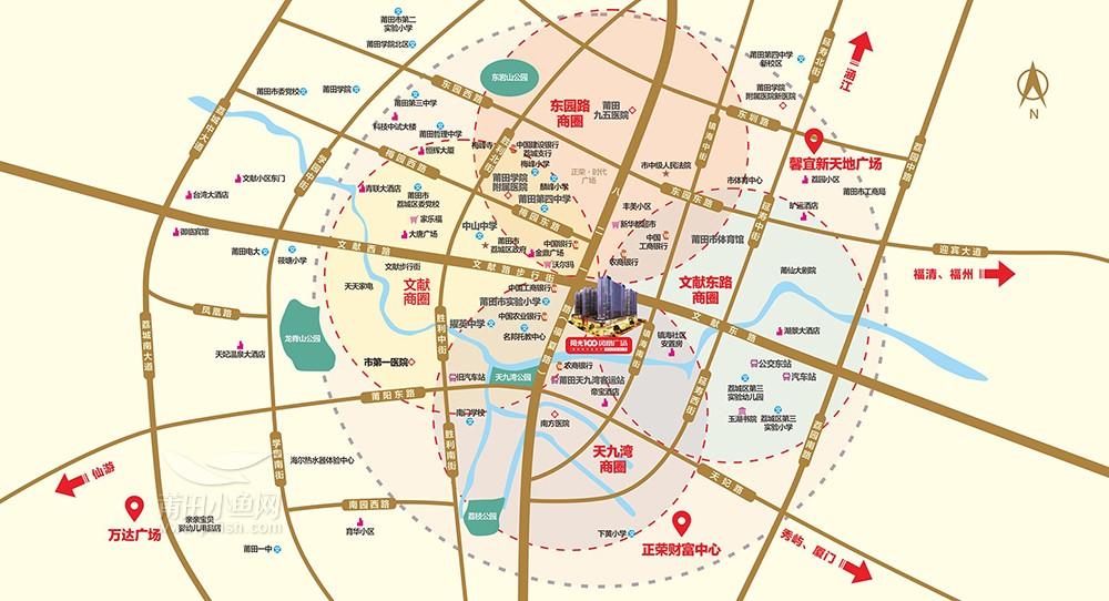 阳光100凤凰广场区位图